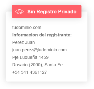 Sin registro privado