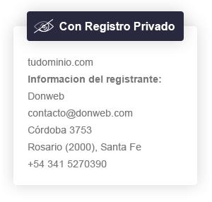Con registro privado
